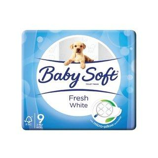 Baby Soft 2 Ply Toilet Paper White 9s - Buy Groceries Online