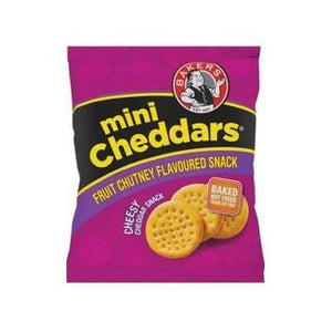 Bakers Mini Cheddars Fruit And Chutney 33g x 6 - Buy Groceries Online