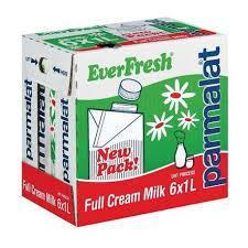Everfresh Full Cream Long Life Milk 1 L x 6