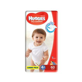 Huggies Dry Comfort Disposable Nappies Jumbo Size 4+ 60s
