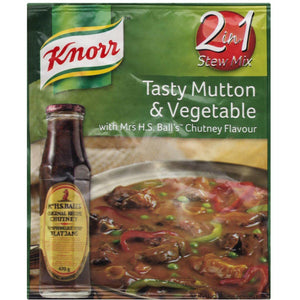 KNORR Tasty Packet Soup Mutton & Vegetable with Mrs Ball Chutney 50g