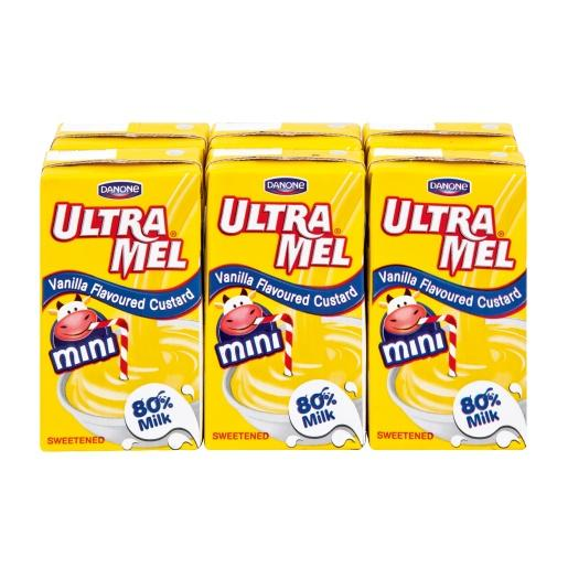 Ultra mel custard 125ml x 6