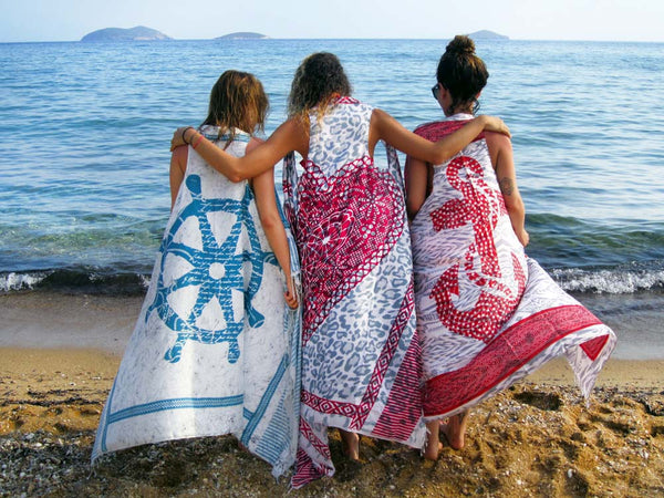 AZTEC ANCHOR pareo dress