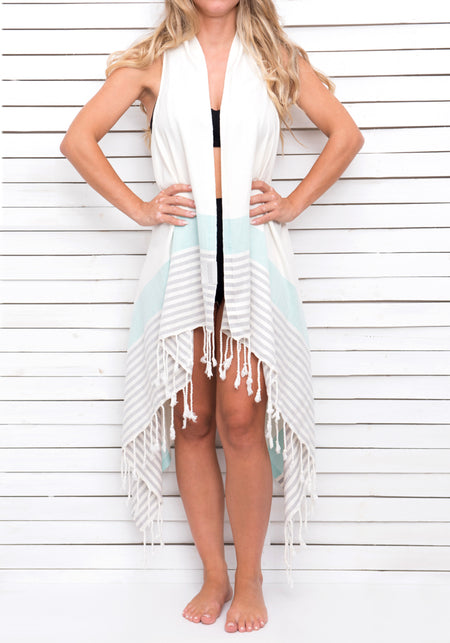 MACHO MAN WHITE pareo dress