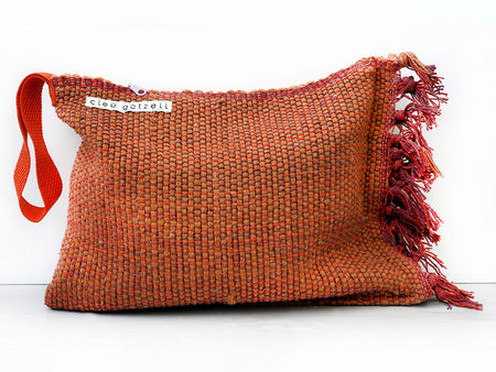 SPLASH - multi loom clutch bag