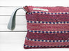 SPLASH - stripes clutch bag