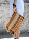 SPLASH - wide stripes clutch bag