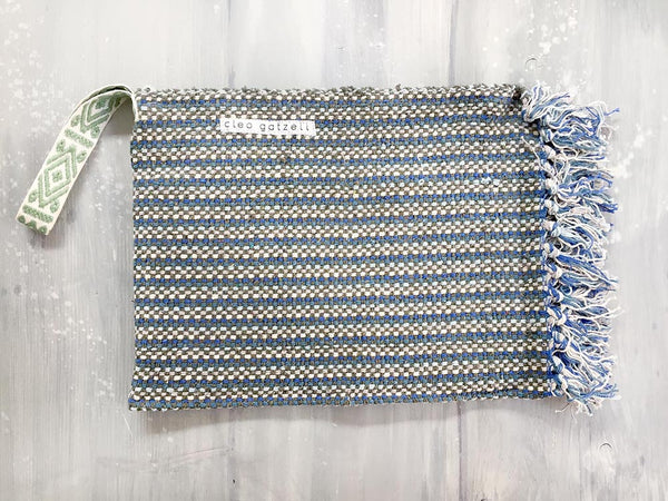 SPLASH - melange stripes clutch bag
