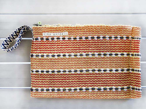 SPLISH SPLASH - stripes clutch bag