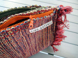 SPLISH SPLASH - multi loom clutch bag