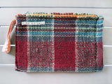 SPLISH SPLASH - tartan clutch bag