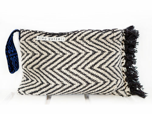 SPLISH SPLASH - herringbone clutch bag