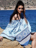 PORCELAIN BLUES pareo caftan