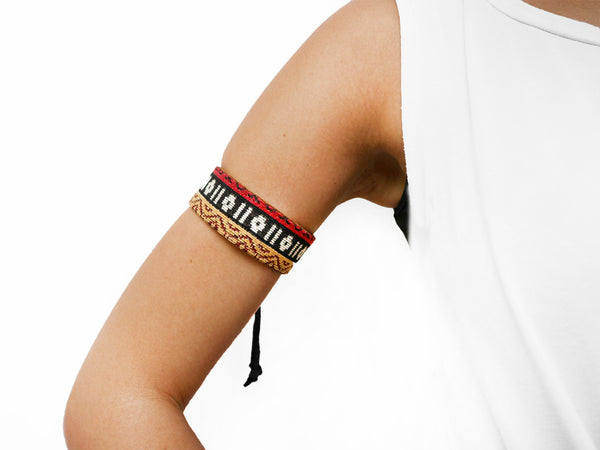CHARMER- BOHO STRIPES arm & ankle bracelet, 3cm