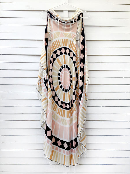 MOSAIC circular pareo dress