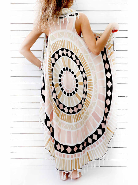 FISHNET MANDALA pareo dress