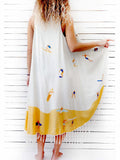 SURF DAY circular pareo dress