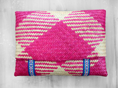 COCO - DIAGONALS straw pouch