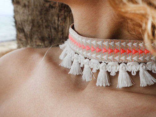 MASAI- TRIANGLES boho choker