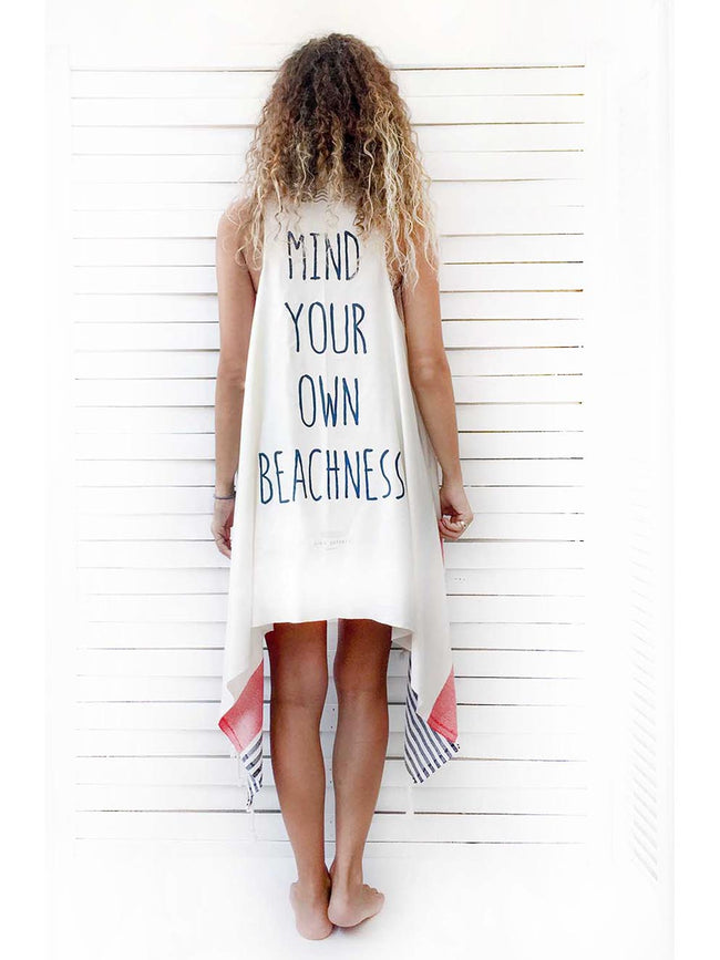 MIND YOUR OWN BEACHNESS duster vest