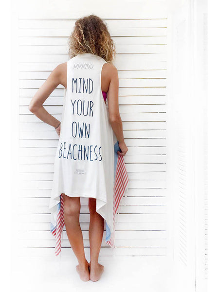 20d7e0ee852 MIND YOUR OWN BEACHNESS duster vest – cleogatzeli
