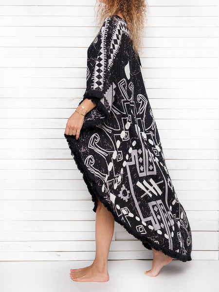 QUEEN OF TRIBE maxi caftan