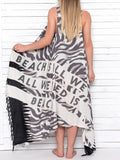 ALL WE NEED IS BEACH pareo dress