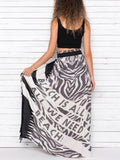 ALL WE NEED IS BEACH maxi skirt