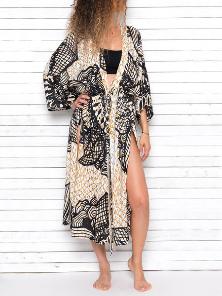FISHNET MANDALA beach robe