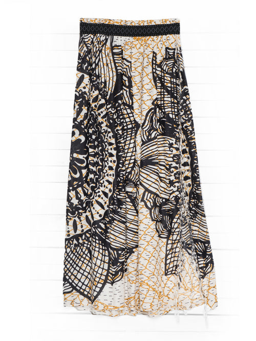 FISHNET MANDALA maxi skirt