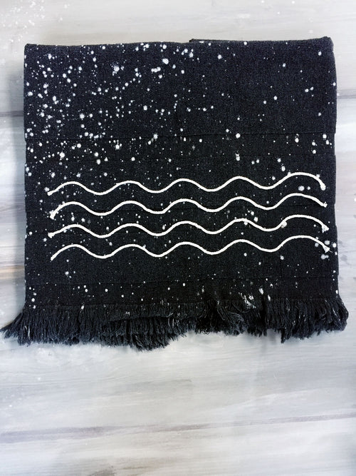 SUMMER NIGHT hand dyed peshtowel
