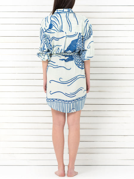 HELLO SAILOR boyfriend shirt dress
