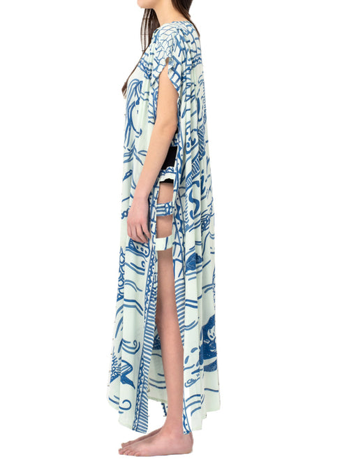 HELLO SAILOR maxi open caftan