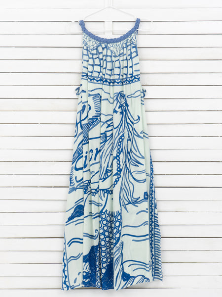 HELLO SAILOR braid strap maxi dress