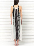NISSI braid strap maxi dress
