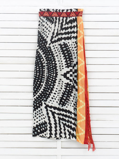 AFRICULT maxi pareo skirt