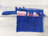 SEA WASHED terry clutch bag