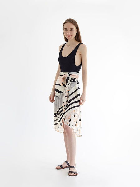 BE A LITTLE WILD wrap skirt