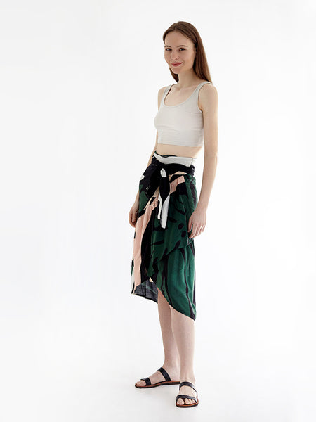 MONSTERART wrap skirt