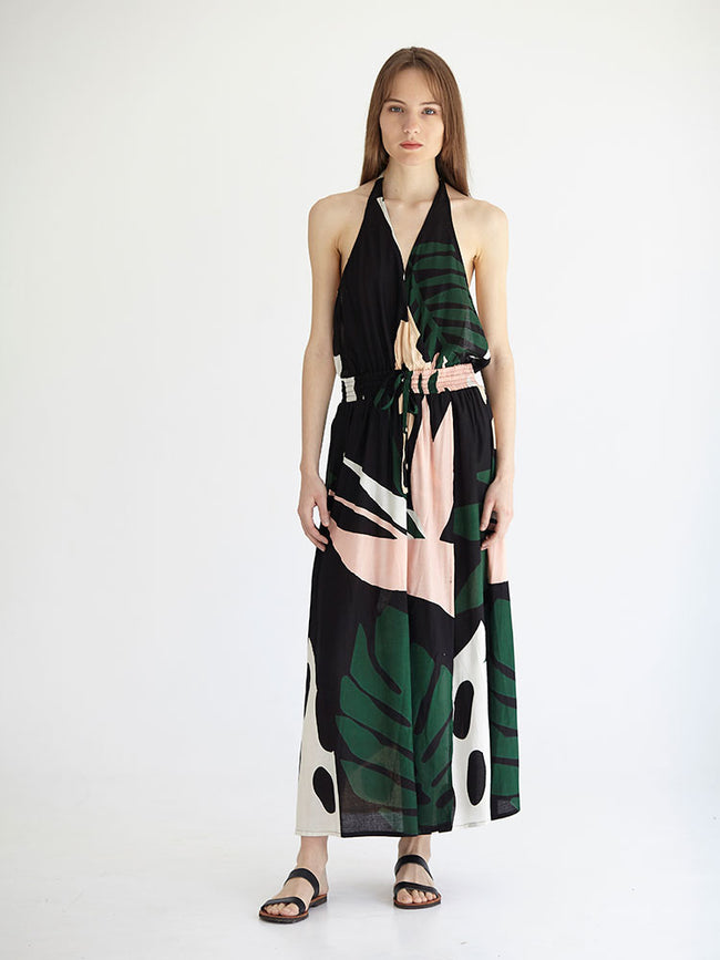 MONSTERART maxi backless dress