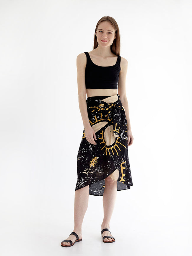 SUNSHINE wrap skirt