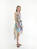 RAINBOW pareo dress