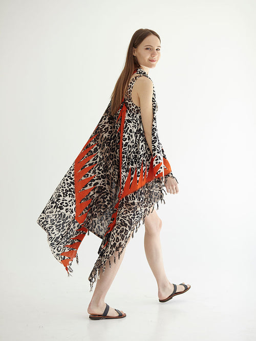 CHEETAH pareo dress