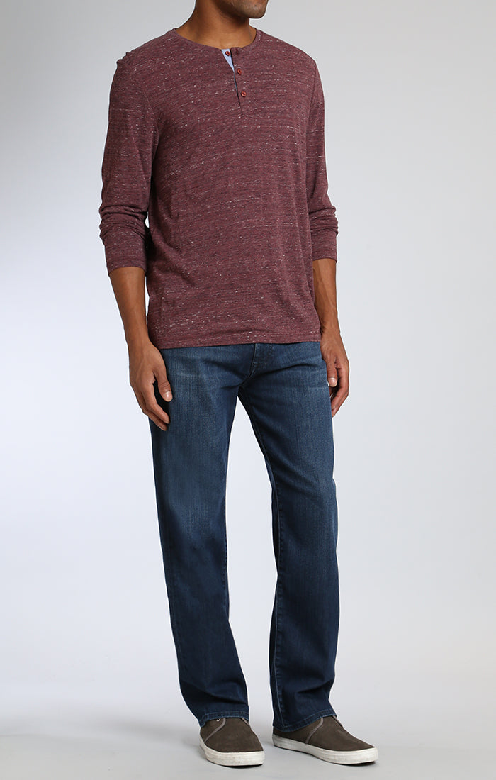 MATT RELAXED STRAIGHT LEG IN DARK TONAL WILLIAMSBURG