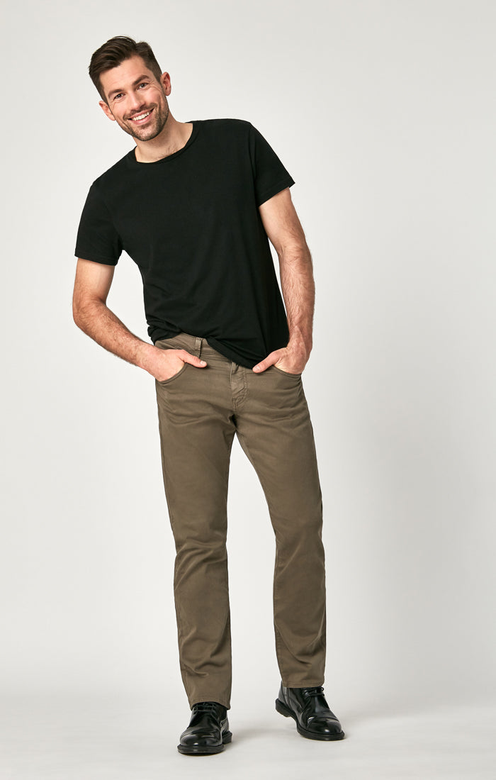 MATT RELAXED STRAIGHT LEG PANTS IN DUSTY OLIVE TWILL - Mavi Jeans