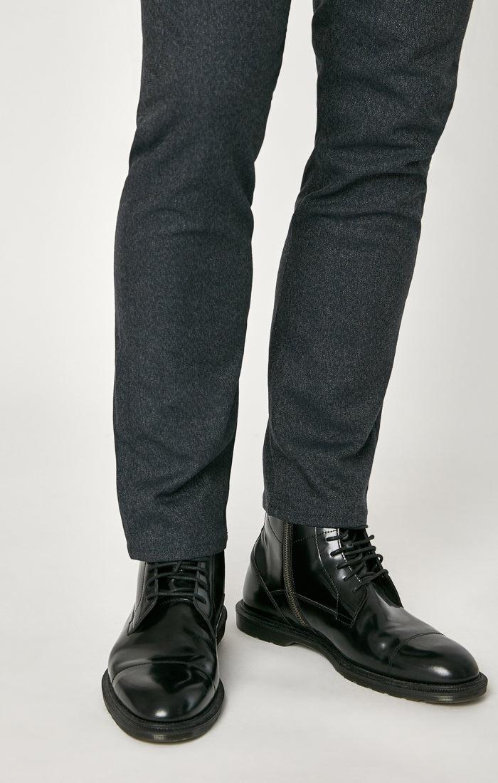 MARCUS SLIM STRAIGHT LEG PANTS IN SMOKE FEATHER TWEED - Mavi Jeans