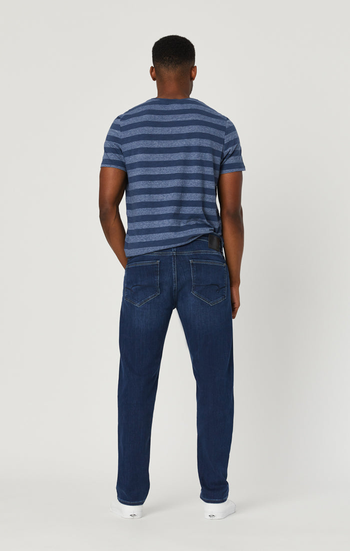 MARCUS SLIM STRAIGHT LEG JEANS IN DARK BLUE SUPERMOVE - Mavi Jeans