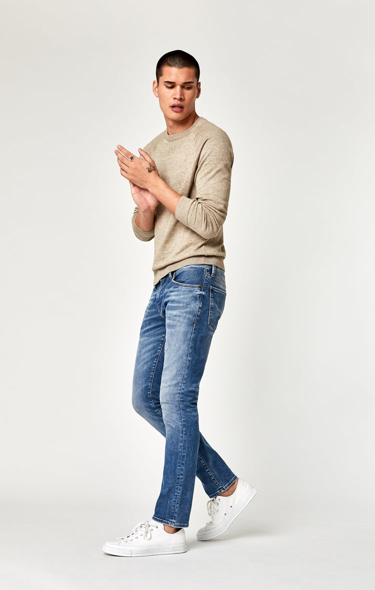 JAKE SLIM LEG JEANS IN MID BLUE BROOKLYN - Denim - Mavi Jeans
