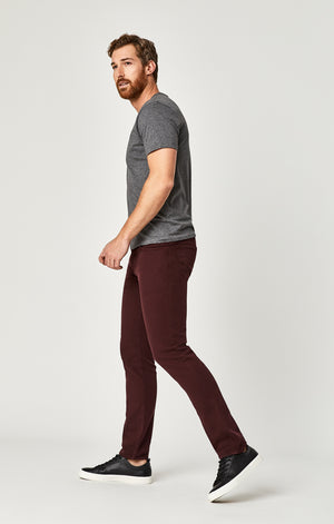 dd88dccc JAKE SLIM LEG JEANS IN BURGUNDY SPORTY - Mavi Jeans ...
