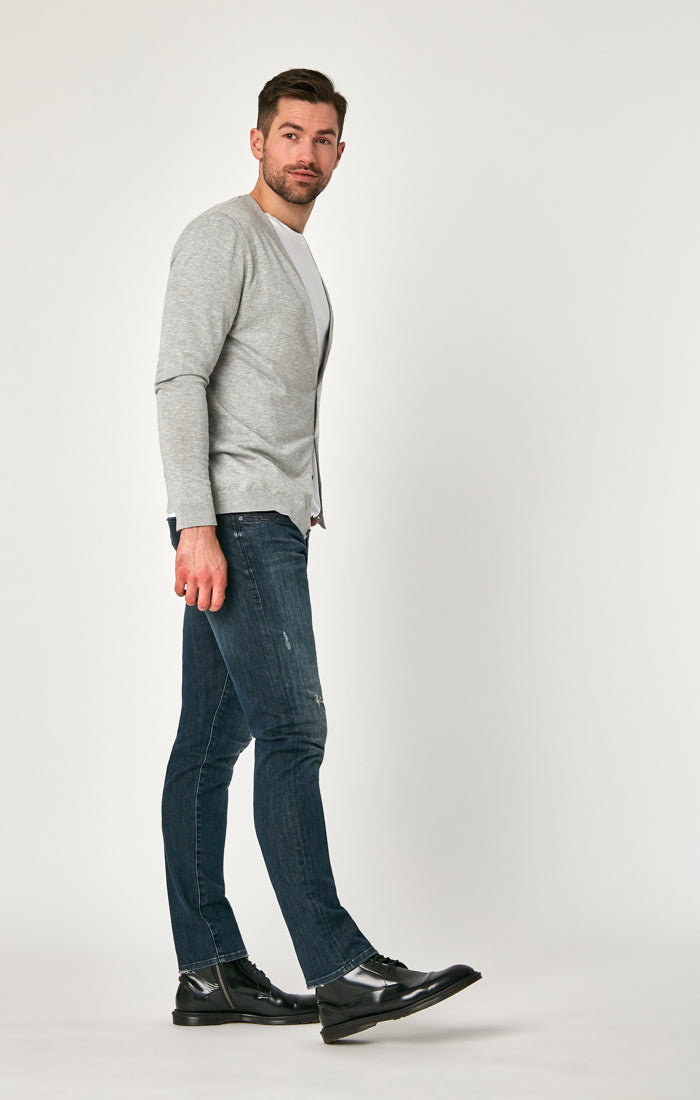 JAKE SLIM LEG JEANS IN DARK BRUSHED AUTHENTIC VINTAGE - Mavi Jeans